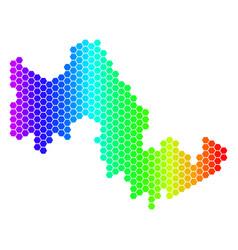 Spectrum hexagon tilos greek island map vector