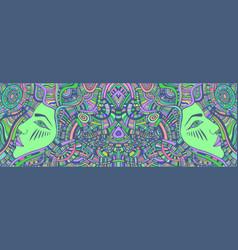 Surreal psychedelic kaleidoscope fantastic girls vector