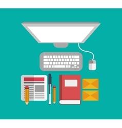 Technology and social media design vector
