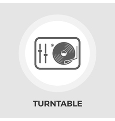 Turntable flat icon vector