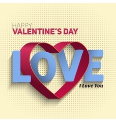 Valentines Day Flyer EPS10 vector