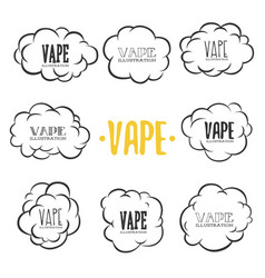 vape on white background vector image
