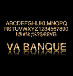 vegas casino or retro broadway style night font vector image