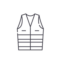 Work clothes line icon concept work clothes vector