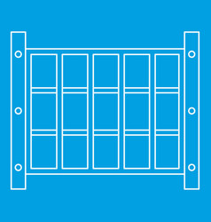 Yard fence icon outline style vector