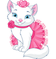 cat princess vector image