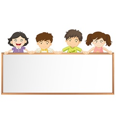 Frame template with many children vector image vector image