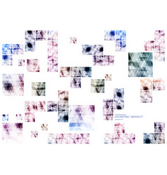 Geometric technological various connection square vector