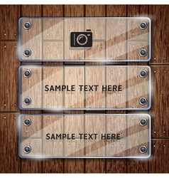 Glass frame and wooden vector image vector image