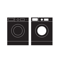 washing machine icon washing machine flat sign vector image vector image