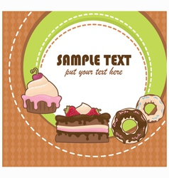 cakes card vector image vector image