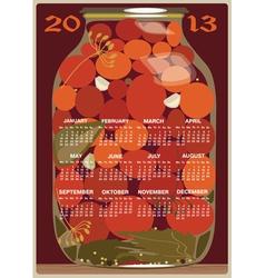 calendar 2013 tomatoes vector image