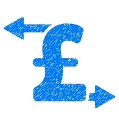 Pound payouts grainy texture icon vector