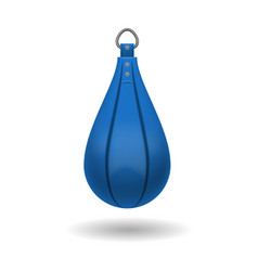 punching bag for training impact velocity vector image