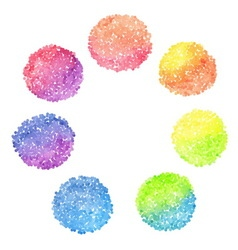 Set of rainbow dotted circles vector image