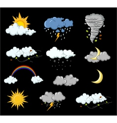 weather collection for you design vector image vector image