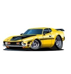 Cartoon retro car vector image vector image