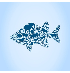 Fish an animal vector image vector image