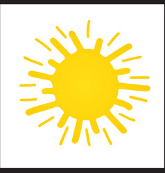 Hand drawn shinny sun vector