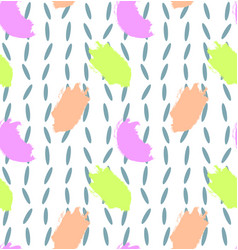 pattern with colorful brush strokes vector image