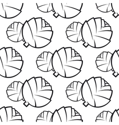 Seamless pattern of cabbages vector image