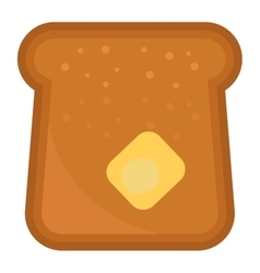 Slices of breakfast bread vector image