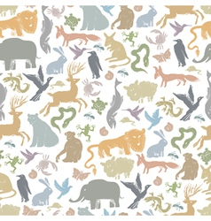 animals background seamless vector image vector image