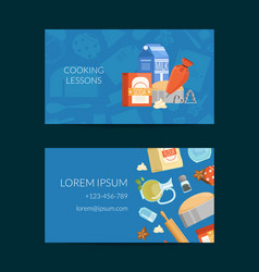 business card template for cooking vector image