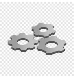 gears isometric icon vector image