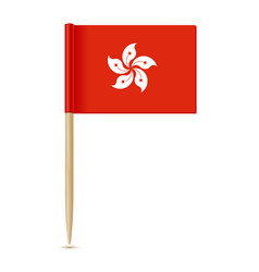 hong kong flag flag toothpick 10eps vector image