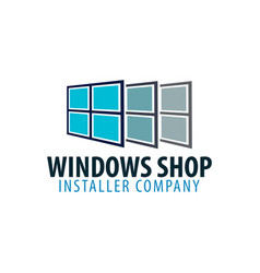 logo windows store installer company vector image