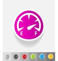 realistic design element speedometer vector image
