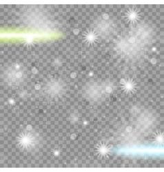 Shiny starry transparent sparkling effect vector image