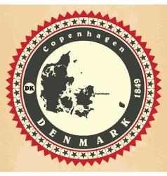 Vintage label-sticker cards of Denmark vector image