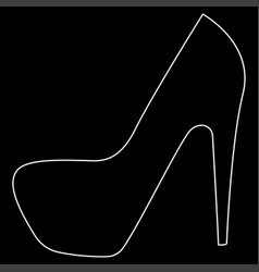 woman shoes the white path icon vector image