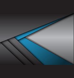 Abstract blue grey metallic arrow direction vector
