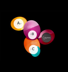 abstract circles on black vector image vector image