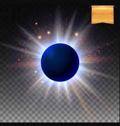 abstract cosmic eclipse with sparkling star lights vector image