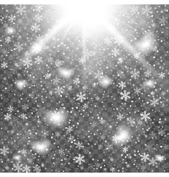 Abstract creative christmas falling snow isolated vector