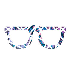 Abstract polygonal sunglasses abstract vector