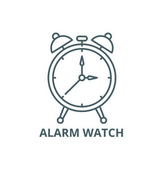 alarm watch line icon alarm watch outline vector image