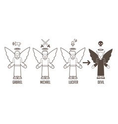 angels god cartoon vector image