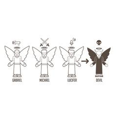 angels of god cartoon vector image