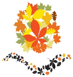 autumn decor elements vector image