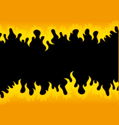 Black background with flame vector