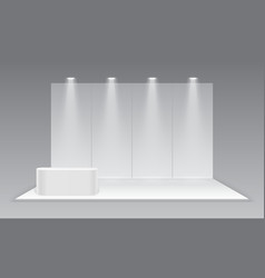 Blank exhibition trade show booth white empty vector
