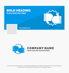 blue business logo template for box boxing vector image