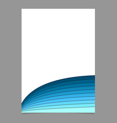 Brochure template from blue curved stripes vector