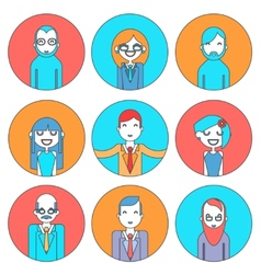 Businessman Male and Female Avatars Director vector image
