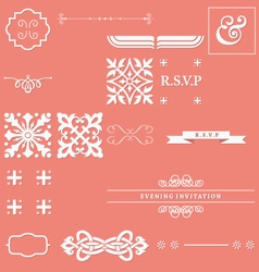 Calligraphy elements vector image
